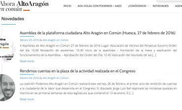 Asamblea de la plataforma ciudadana Alto Aragón en Común en Huesca