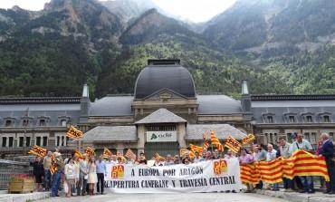El Partido Aragonés suma su reivindicación del Canfranc y los pasos a Europa por Aragón y apoya las demandas de Jacetania con actos en Jaca y la estación internacional