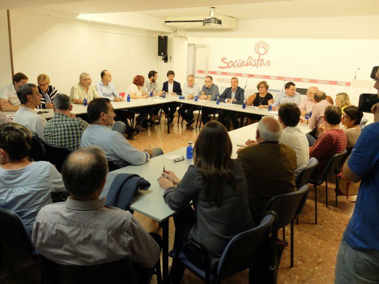 Apoyo total de los socialistas del Alto Aragón a la comisión gestora del PSOE