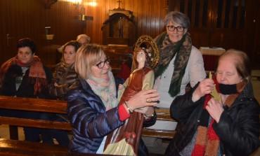 Coplas y torta para celebrar santa Águeda en Pomar de Cinca