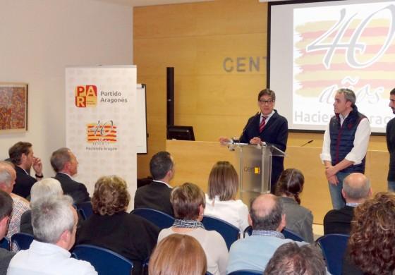 Aliaga destaca en Barbastro el impulso positivo y de futuro para el PAR que significa el 40 aniversario del partido