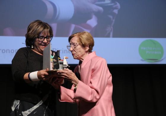 Maruja Callaved emocionó a los congresistas  de Hecho en los Pirineos con su lúcido discurso