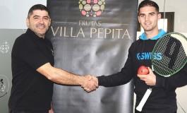 Frutas Villa Pepita, de Cofita,  patrocina al tenista Pablo Irigaray
