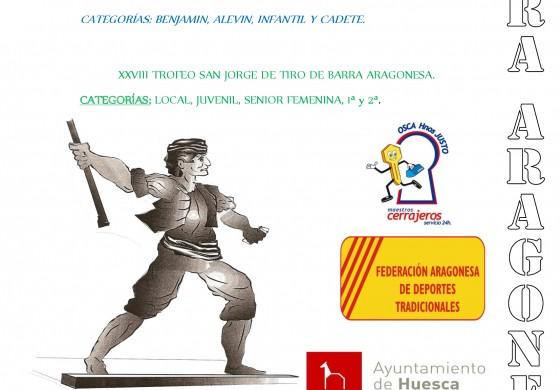 Deporte tradicional aragonés y tiro de barra aragonesa, este domingo en el parque