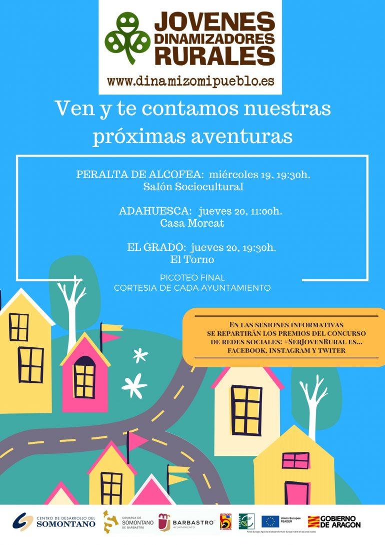 Los jóvenes dinamizadores rurales del Somontano se citan en Peralta de Alcofea, Adahuesca y El Grado