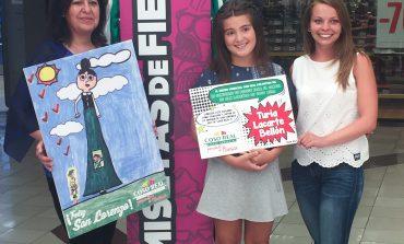 Una pequeña gran artista es la autora del cartel de San Lorenzo de Coso Real