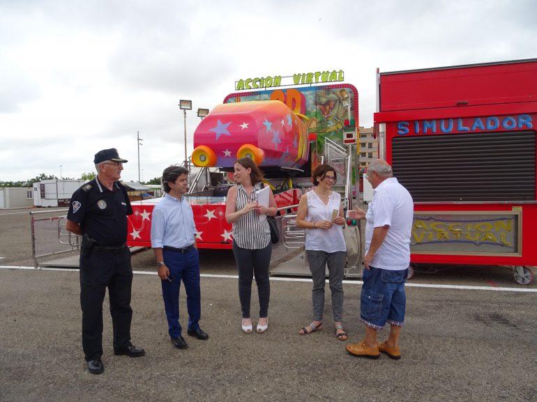 Visita del alcalde de Huesca al Recinto Ferial