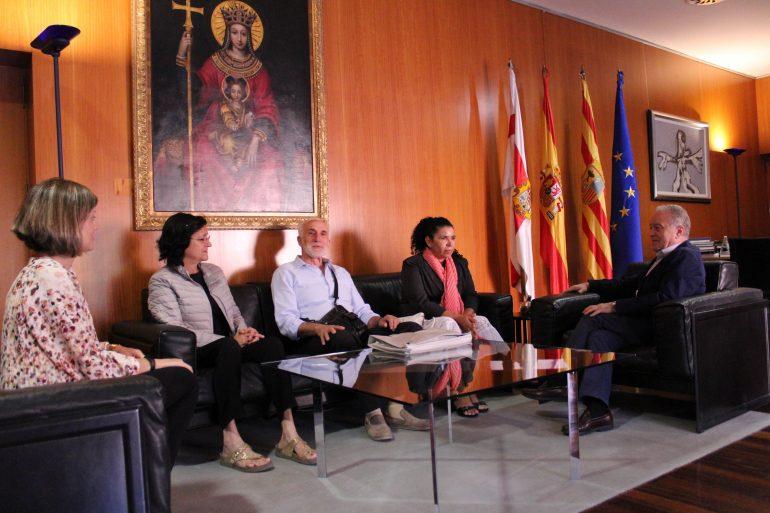 El presidente de la ONG Monegros con Nicaragua visita la DPH enel 20 aniversario de esta organización solidaria con América latina