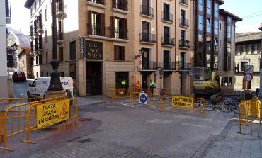 Desvío del tráfico por las obras de remodelación de la plaza Lizana