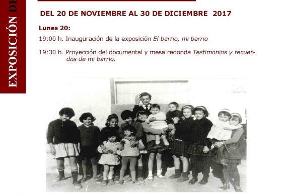 """Exposición """"Barrio Perpetuo Socorro. El barrio, mi barrio"""", en el Centro Cívico Santiago Escartín Otín"""