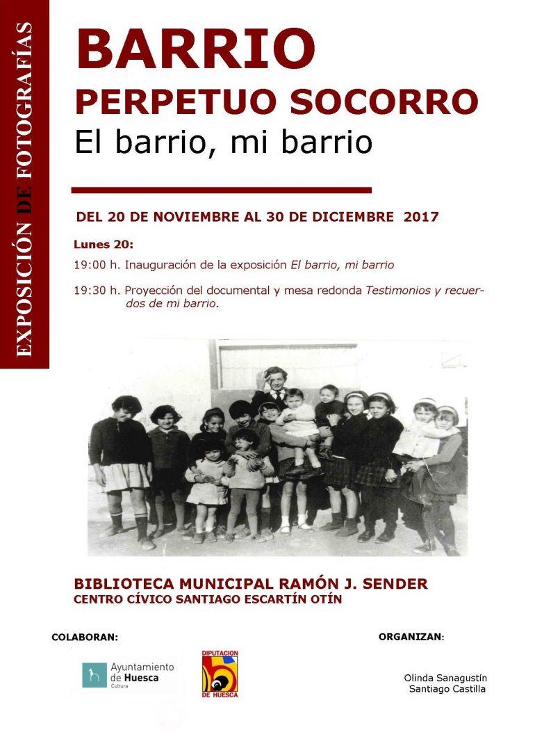 Exposición «Barrio Perpetuo Socorro. El barrio, mi barrio», en el Centro Cívico Santiago Escartín Otín