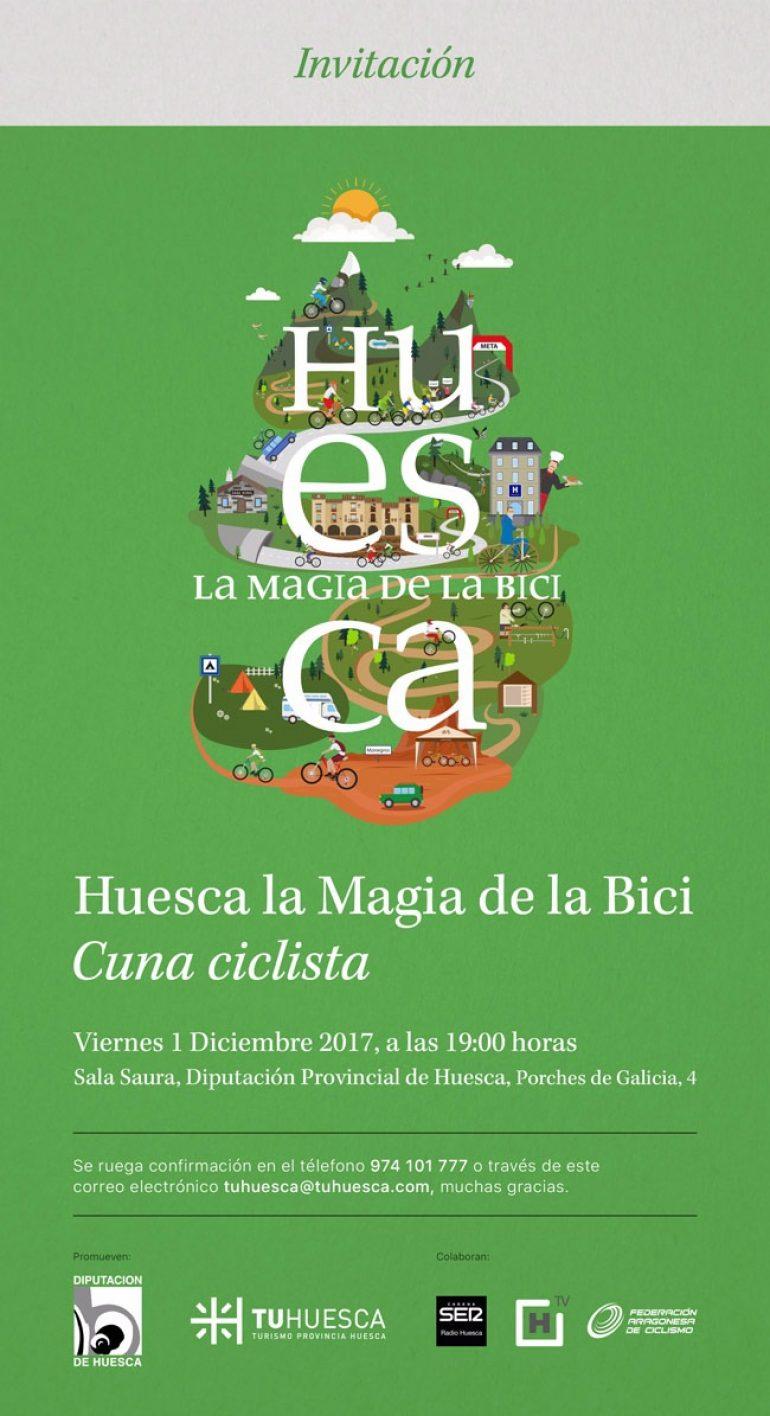 El sector del ciclismo en la provincia se reivindica como cuna ciclista en el evento Huesca la Magia de la Bici