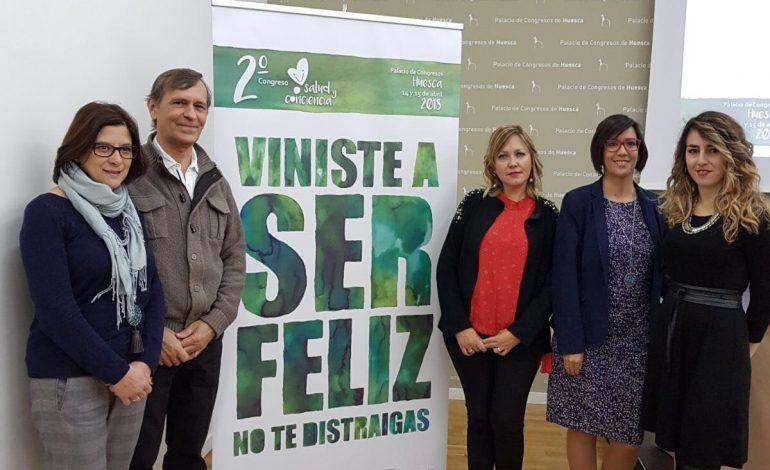 """El II Congreso Salud y Conciencia """"Viniste a Ser Feliz, No Te Distraigas"""" quiere reunir a 800 asistentes en Huesca el 14 y 15 de abril"""
