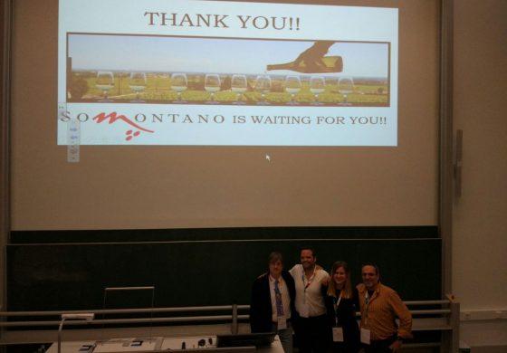 Estudiantes del Máster en Turismo del Campus de Huesca dan a conocer en Alemania los vinos y las propuestas de turismo enológico del Somontano