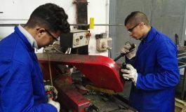 Ocho jóvenes comienzan en Fraga un nuevo curso de soldadura organizado por la Cámara de Huesca a través del Plan de Cualificación y Empleo