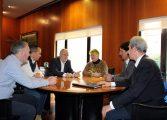 El presidente de la DPH se reúne con empresarios del Alto Gállego que plantean recuperar la Residencia de Panticosa