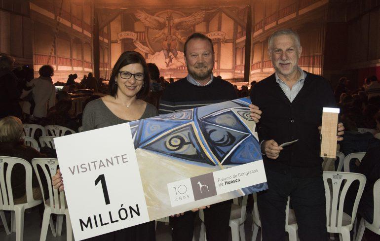 El Palacio de Congresos de Huesca alcanza la simbólica cifra de un millón de asistentes