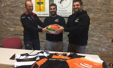 Presentación de un nuevo acuerdo del Quebrantahuesos Rugby Club y la Fundación para la Conservación del Quebrantahuesos