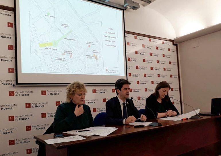 El Ayuntamiento invierte más de medio millón de euros en un plan de actuaciones en el parque Miguel Servet