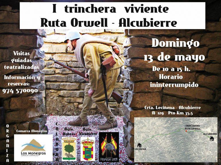 La I Trinchera viviente de la Ruta Orwell tendrá lugar este domingo, 13 de mayo, en la Sierra de Alcubierre