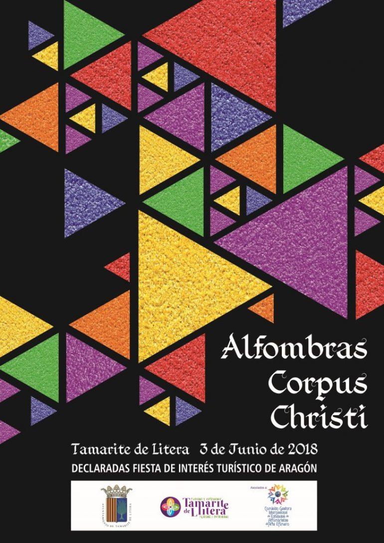 Las Alfombras del Corpus de Tamarite de Litera esperan sorprender a los visitantes un año más