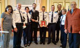 Dos mandos del Cuerpo de la Policía Local de Huesca visitaron la localidad de Tarbes con motivo de las fiestas de la ciudad