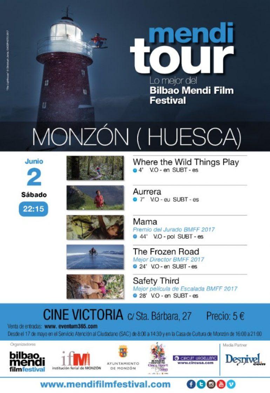 El mejor cine de montaña llega a Monzón el 2 de junio con el Mendi Tour de Bilbao Mendi Film Festival