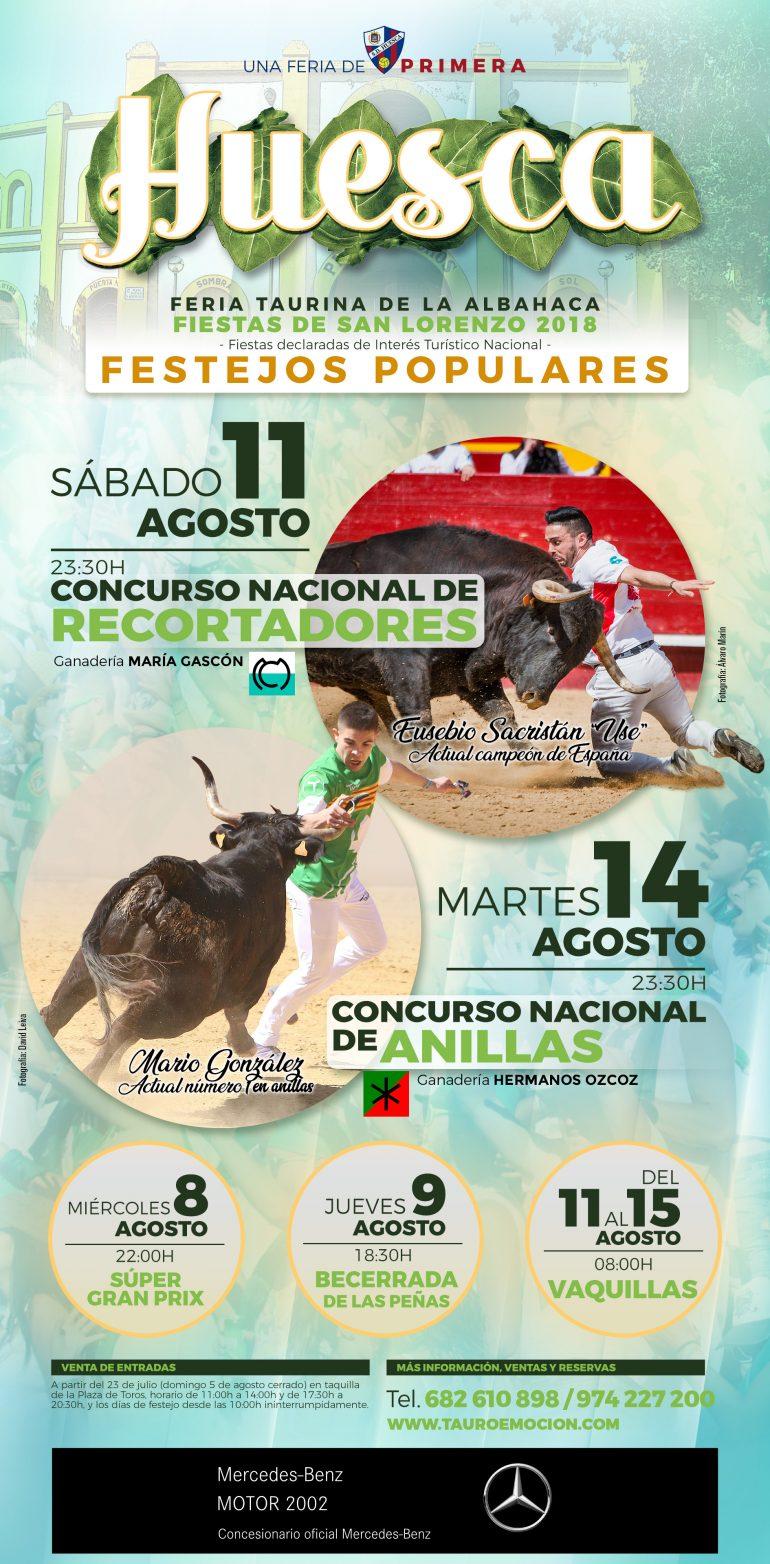 Definidos los recortadores para el Concurso Nacional de Huesca