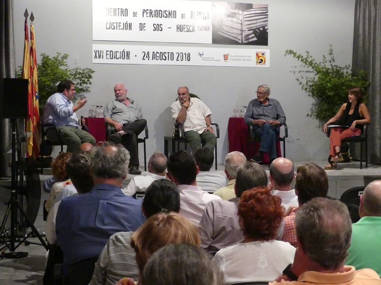Pampliega y otros destacados periodistas y políticos convierten a Castejón de Sos en el «centro de la noticia»