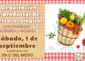 Degustación en Binéfar de productos de los huertos ecológicos impulsados por Medio Ambiente