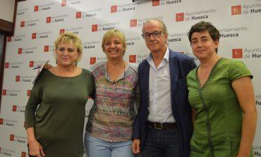 Cambiar Huesca recuerda a Pilar Novales su compromiso con la organización