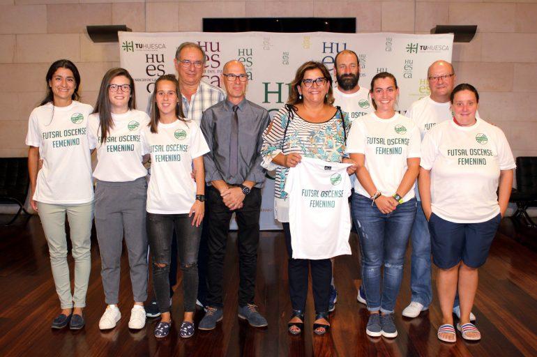 El equipo de fútbol sala femenino de Sariñena inicia una renovada etapa en la ciudad de Huesca