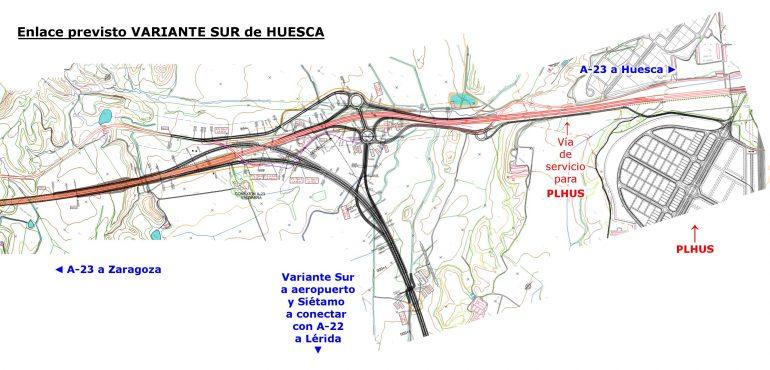 PAR-Huesca pide a ayuntamiento y DGA que analicen si la conexión prevista en la Variante Sur responde a las necesidades y expectativas de PLHUS