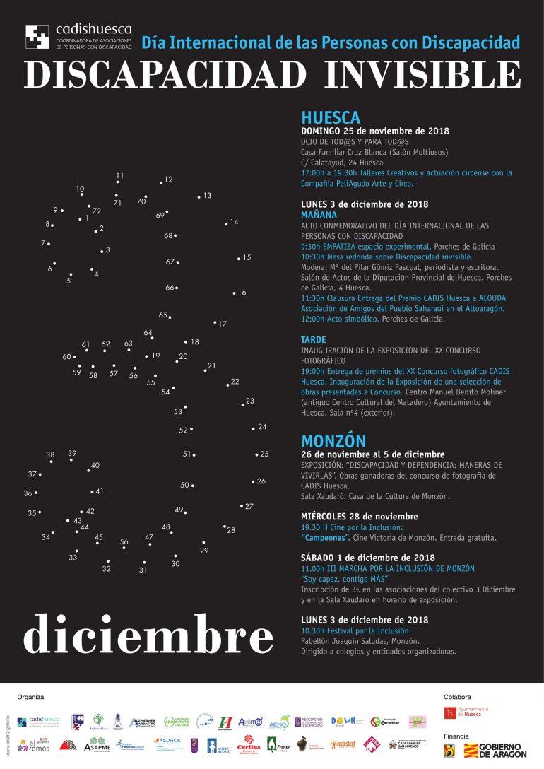 Las discapacidades invisibles, protagonistas del 3 de diciembre en Huesca y Monzón