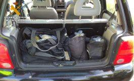 La Guardia Civil detiene a una persona por delito de tráfico de drogas, contra la seguridad vial y resistencia grave en Tardienta
