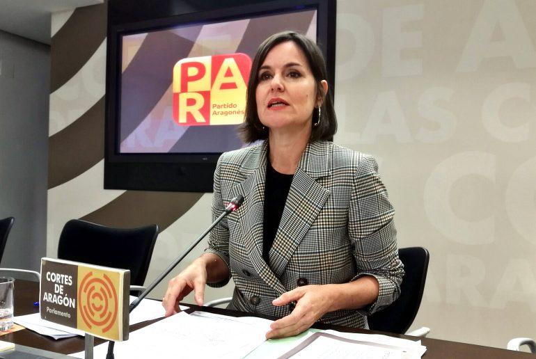 Elena Allué (PAR) pide a Lambán que fuerce un período de diálogo y traiga los presupuestos a las Cortes de Aragón