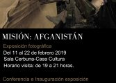 """Exposición fotográfica """"Misión: Afganistán"""" en la Casa de la Cultura de Monzón"""