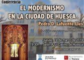 Segunda conferencia del ciclo de actividades culturales que organizan el Ayuntamiento de Huesca y la (UEZ)