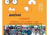 La liga escolar de Aula en bici recala en Binéfar el sábado 23 de marzo