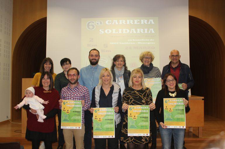 Récord de participación en la VI Carrera Solidaria en beneficio de la Asociación Española Contra el Cáncer Sariñena-Monegros con más de 900 inscritos