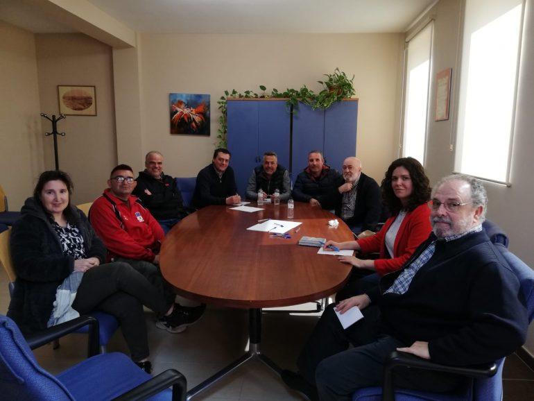Reunión del portavoz del PSOE en materia de Vertebración, Movilidad y Vivienda