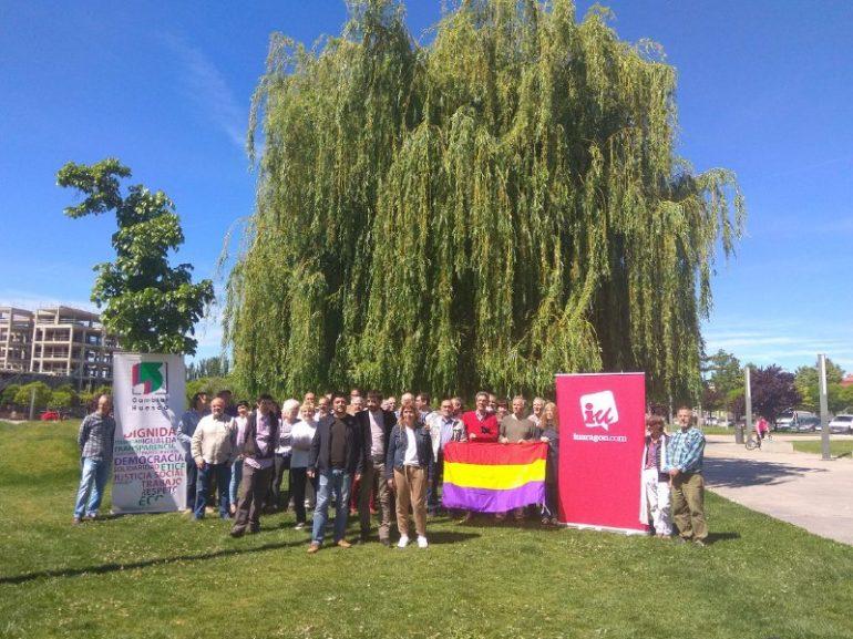 Encuentro de las candidaturas Cambiar de la provincia para arropar a Daniel Isábal, cabeza de lista por IU a las Cortes de Aragón