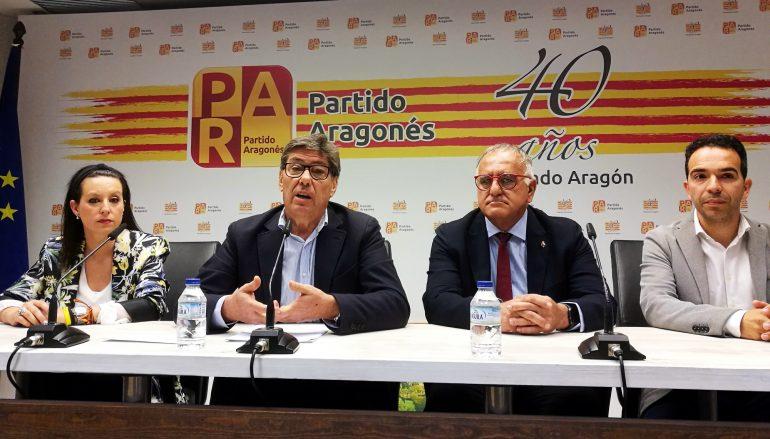 El Partido Aragonés presenta un proyecto político de centro y centrado únicamente en los aragoneses