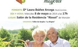 Este miércoles, ponencia sobre salud y alimentación de las personas mayores