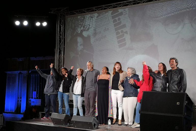 """Anoche comenzó en la estación de Canfranc el rodaje del documental """"Labordeta, un hombre sin más"""""""