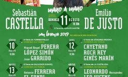 Castella, De Justo y Adolfo Martín, protagonistas de la cartelería de la feria taurina de Huesca