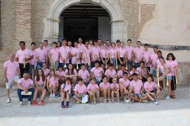 Emoción y lleno total en el concierto de clausura del IX Curso de Trompeta y Trombón que ha reunido durante una semana a estudiantes de toda España en Leciñena