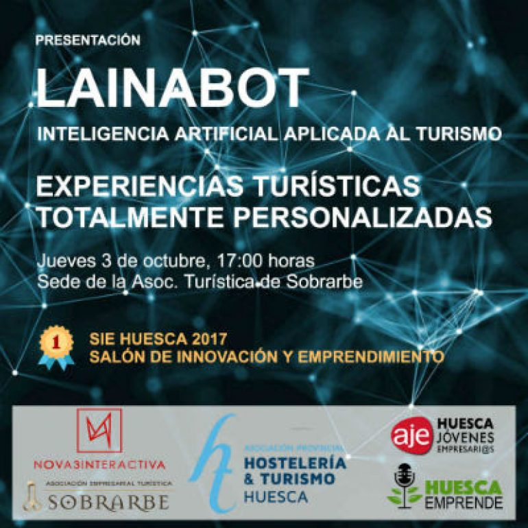 Presentación en Aínsa de LainaBOT, Inteligencia Artificial Aplicada al Turismo