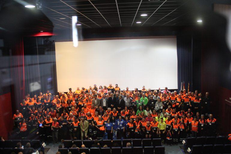 Más de 300 personas participan en el XIX Congreso de la Red de Agrupaciones de Voluntarios de Protección Civil de Aragón celebrado en Sariñena