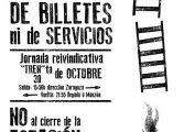 La Asamblea de Cambiar Monzón convoca para este miércoles 30 de octubre a una jornada reivindicativa en apoyo del ferrocarril y de la Estación de Monzón Rio Cinca